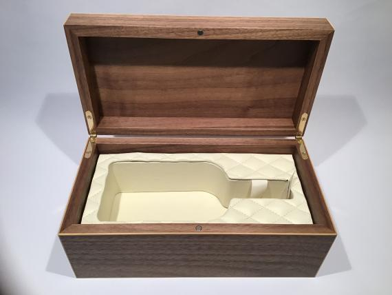 Veneered Whiskey Bottle Box