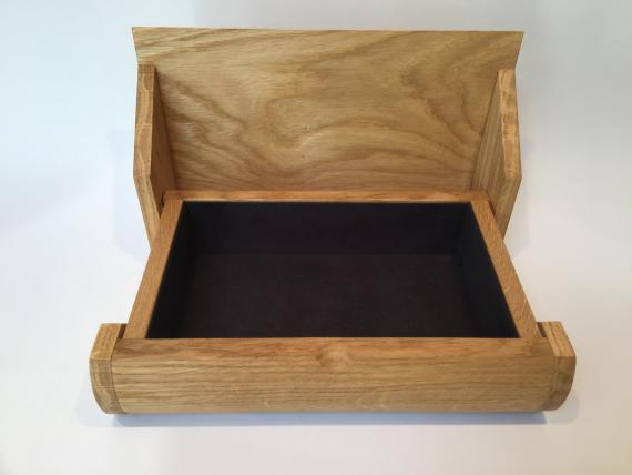Picture of Curved Oak Desk Box