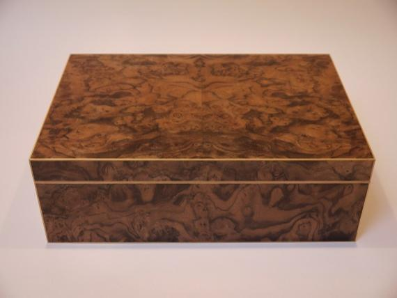 Black Walnut Burr Veneered Jewellery Box