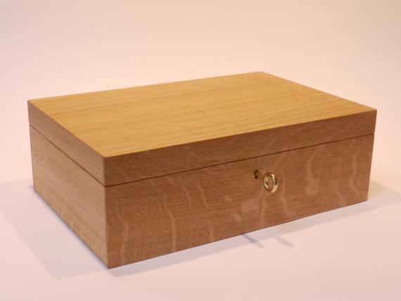 Plain Oak Desk Box